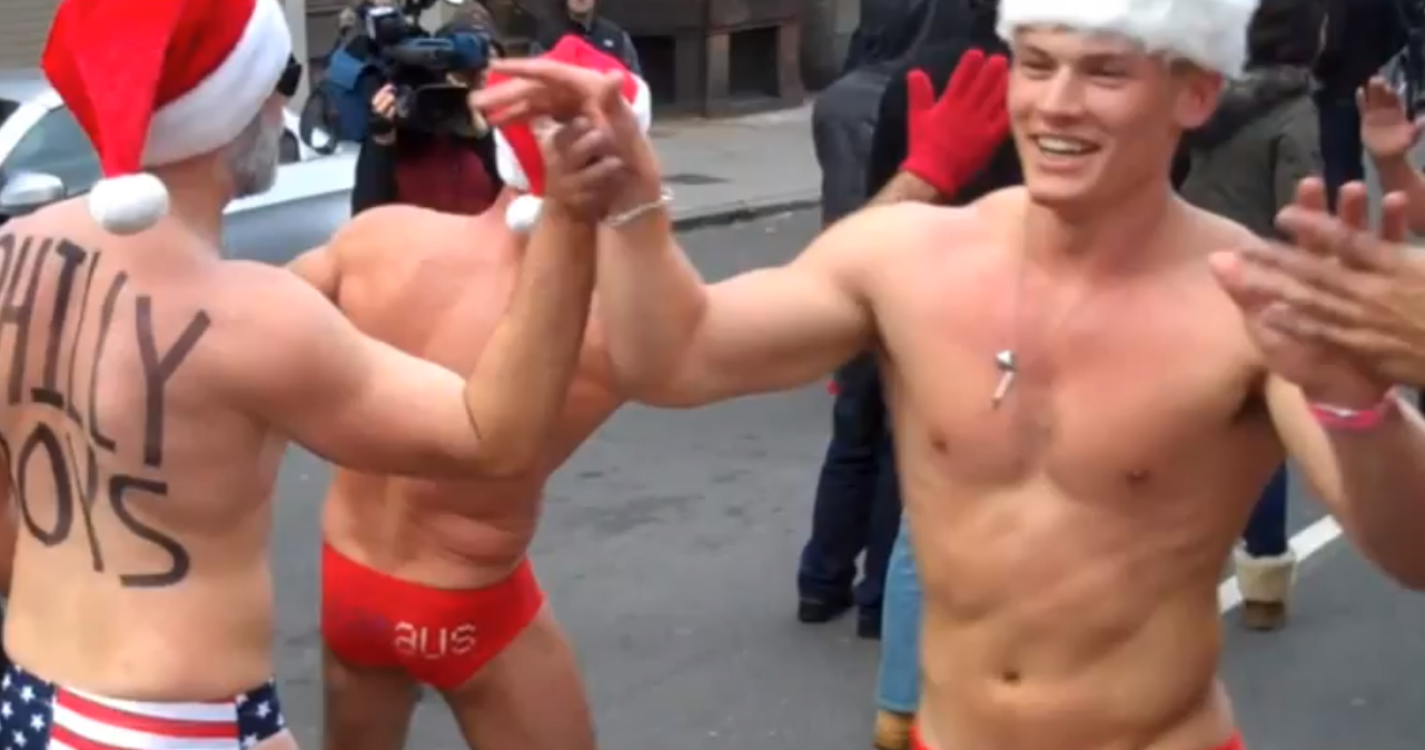 Boston's Santa Speedo Run, which took place this past Saturday is always one ...