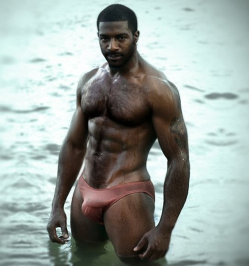 hairy black man
