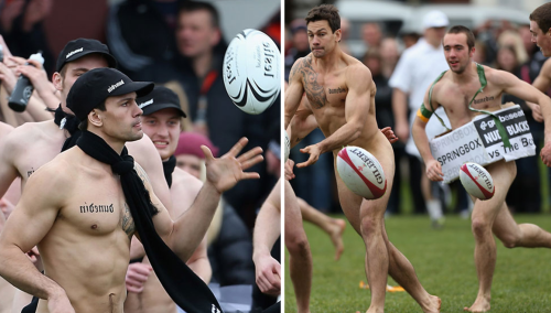 Nude Blacks Rugby in New Zealand