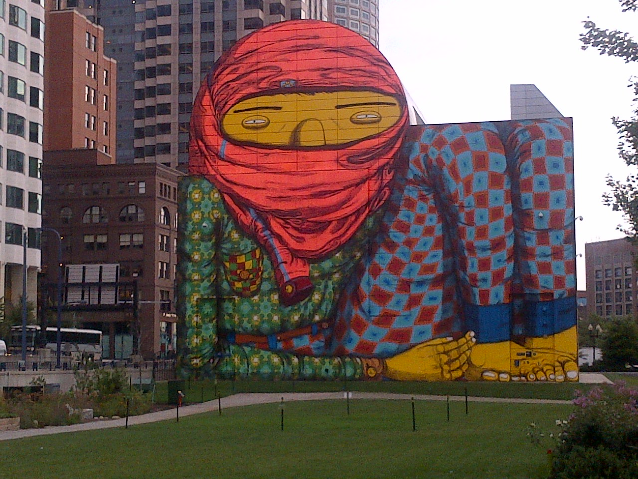 Os gemos mural in boston bosguy for Dewey square mural