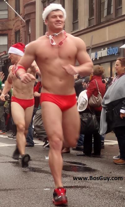 Boston Santa Speedo Run