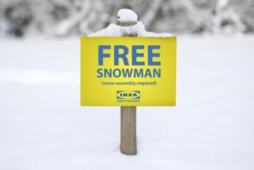 Ikea Snowman