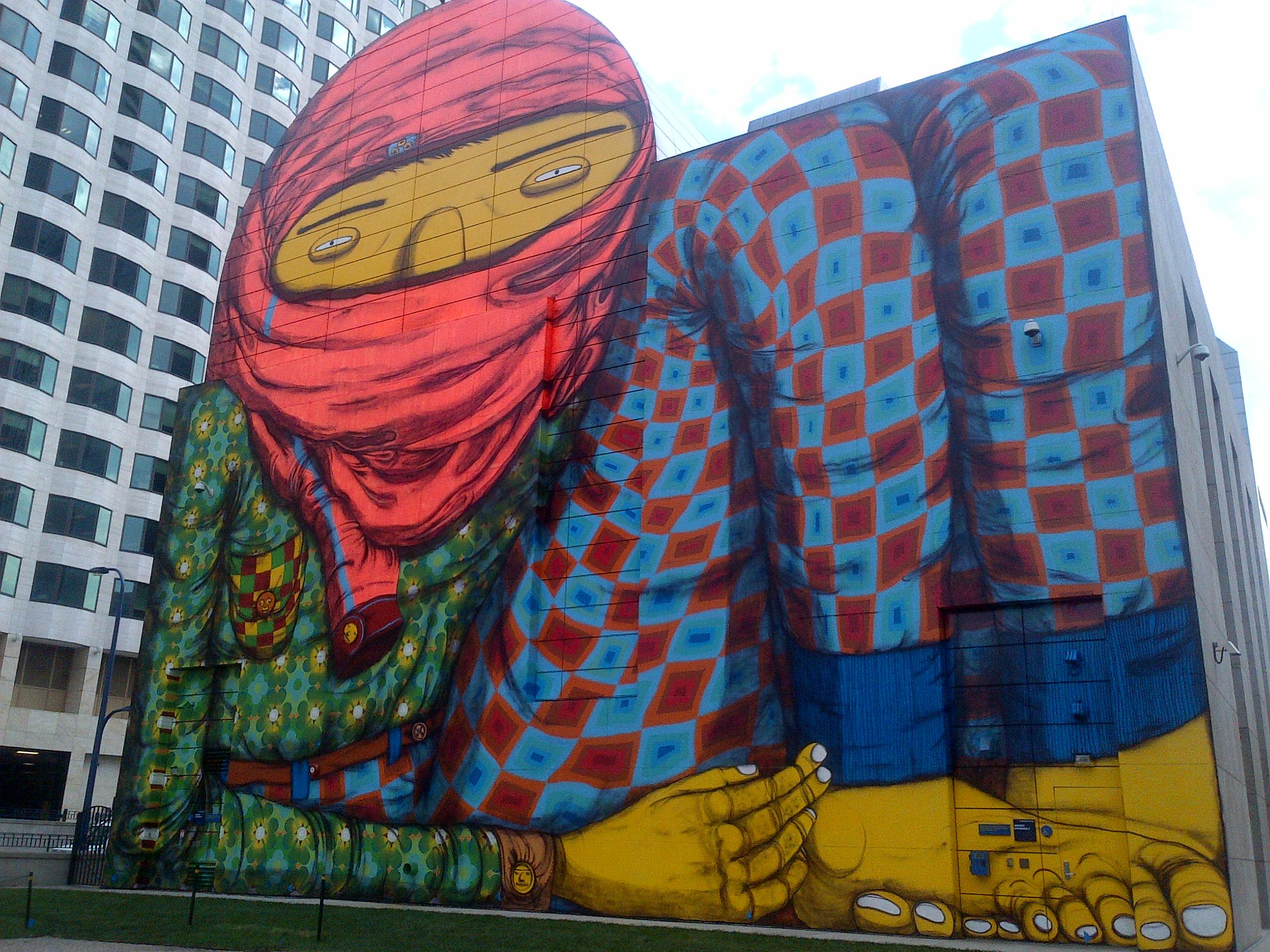 Boston street art bosguy for Dewey square mural 2016