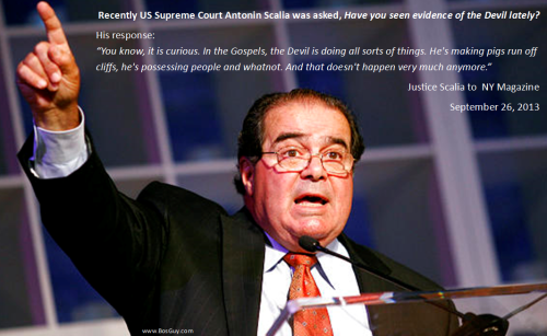 Scalia discusses the devil