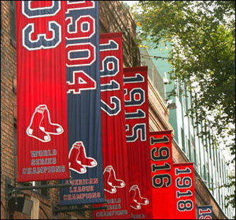 Red Sox World Series Banners