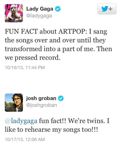 Lady Gaga and Josh Groban