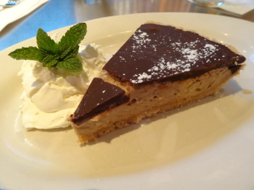 Estelle's Chocolate Peanut Butter and Banana Pie $6.95