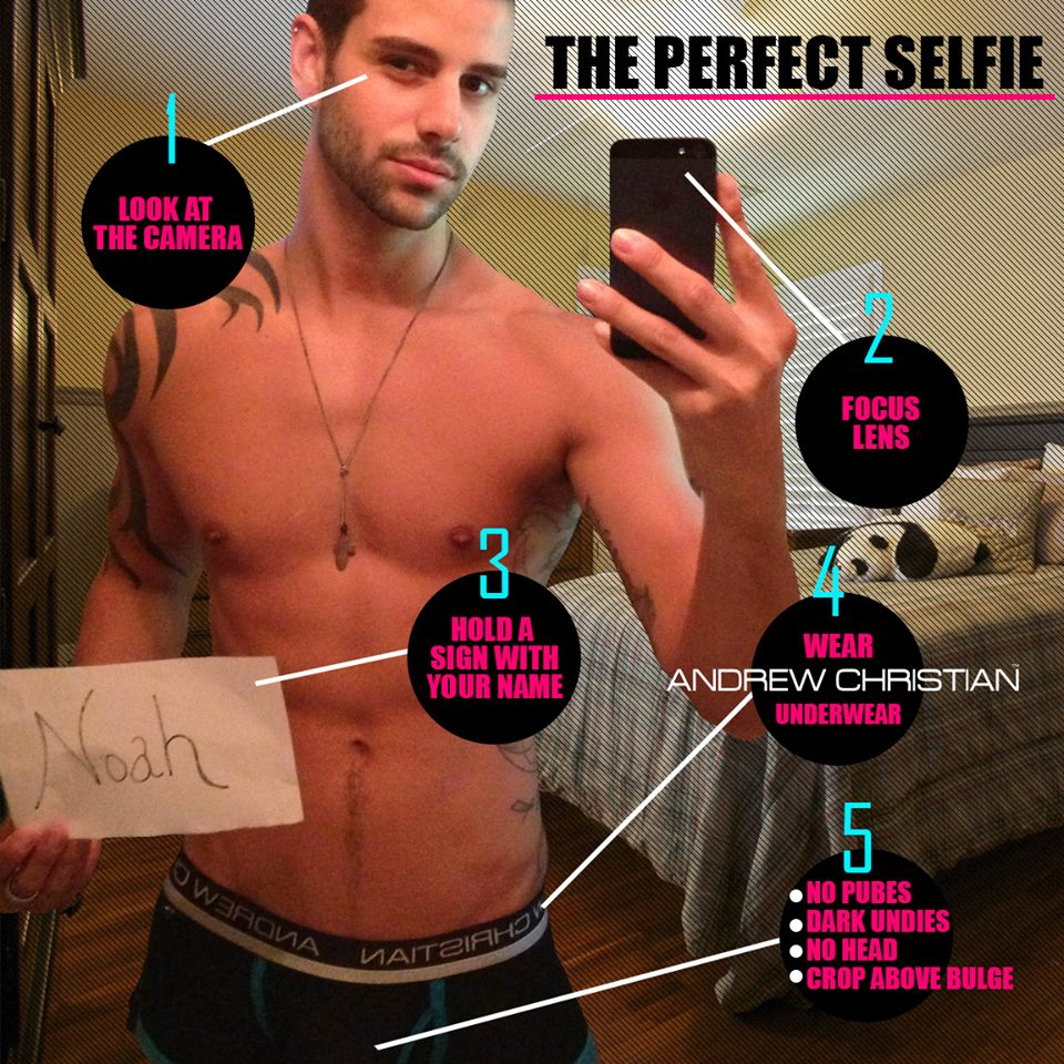 how to make a good selfie as a guy