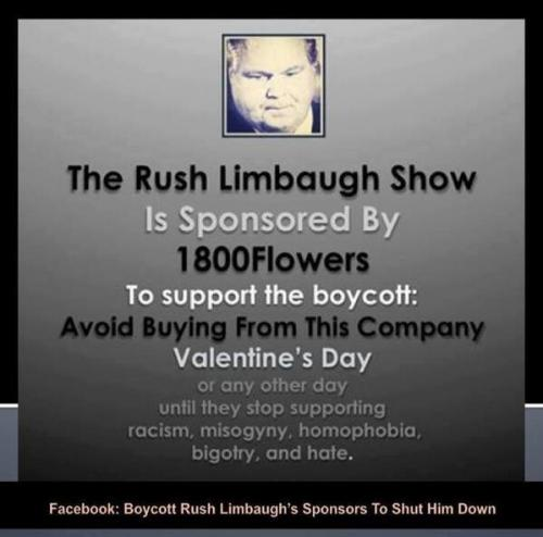 Rush Limbaugh boycott