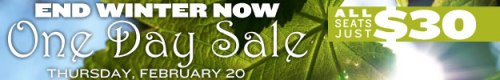 SpeakEasy Stage one day sale banner