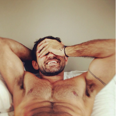 hunk, handsome, muscles, men in bed