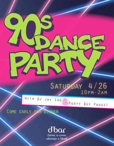 90s Dance Party at dBar