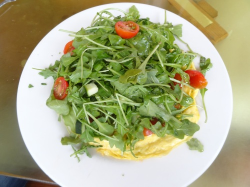 omelet at claires on cedros