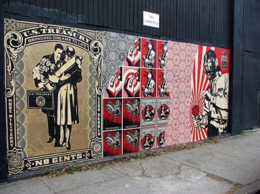shepard fairey street art in boston