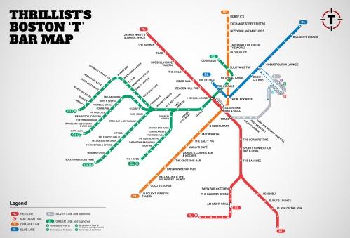 Thrillist Boston MBTA map