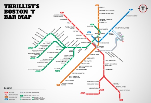 Thrillist Boston MBTA map
