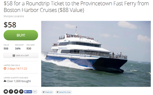Ptown Fast Ferry Groupon