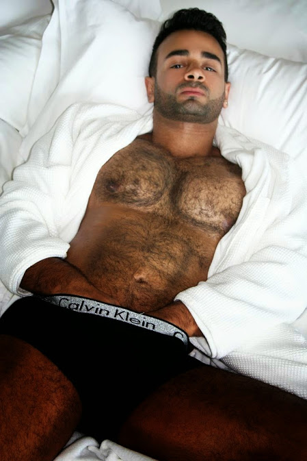 sexy guy in bed