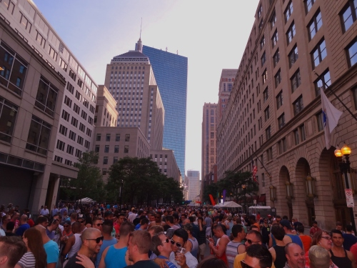 Boston Pride Back Bay block party