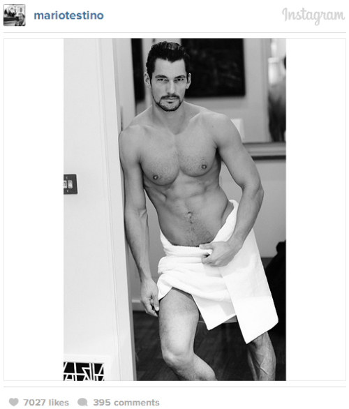 Instagram towel shots by Testino