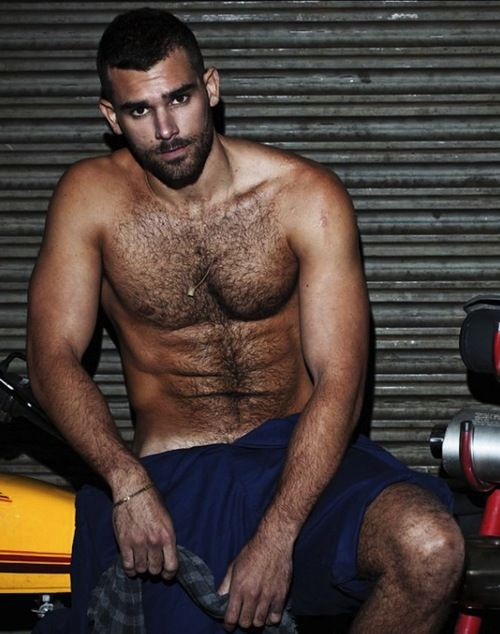 Hairy chested hunk
