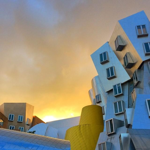 Sunset over Stata Center at MIT