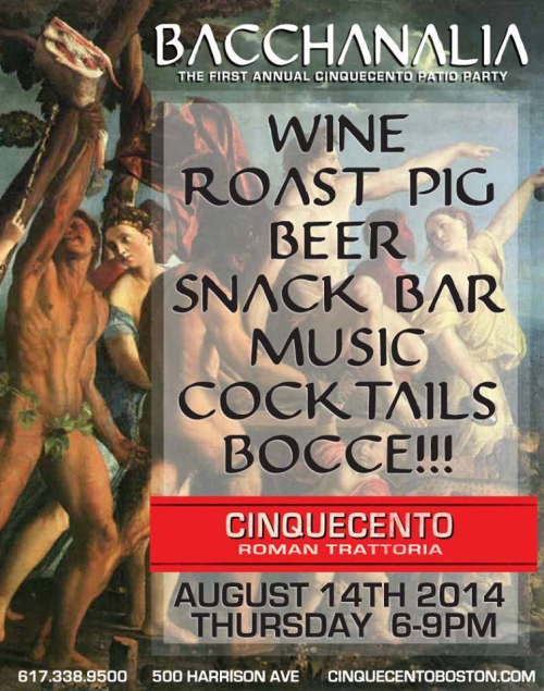 Cinquecento Bacchanalia Party 2014