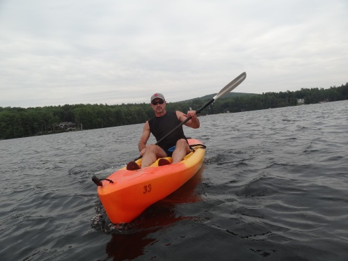 Sergio Kayaking on Lake Winnipesaukee