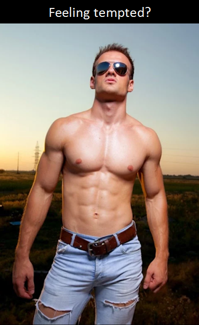 Handsome, shirtless man
