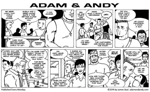 Saturday morning comic, gay comic