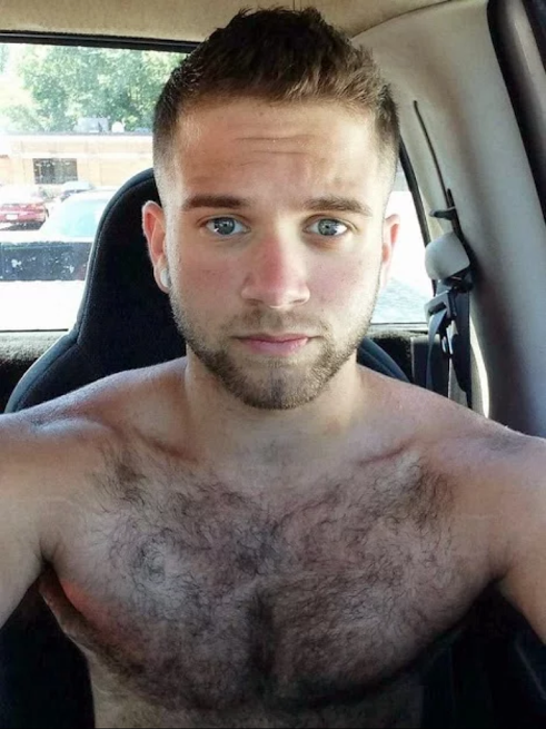 handsome, shirtless guy, hairy chest, hunk