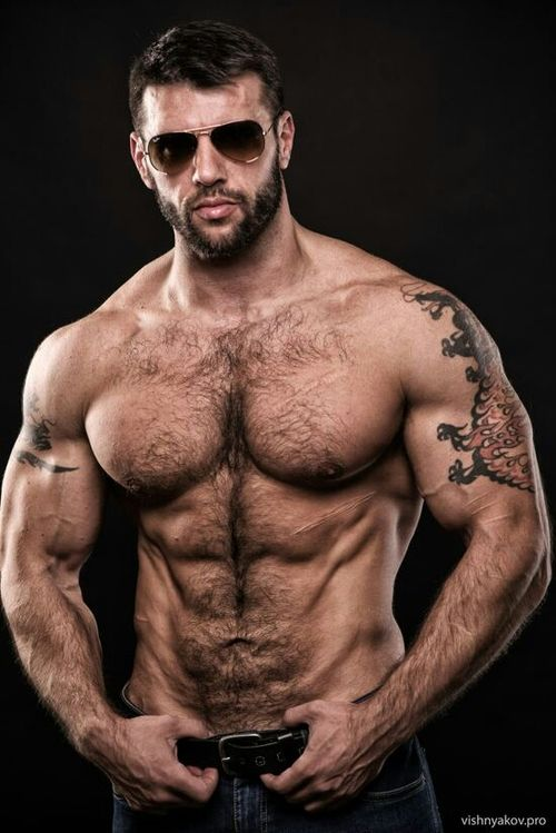 handsome, hunk, shirtless guy, hairy chest