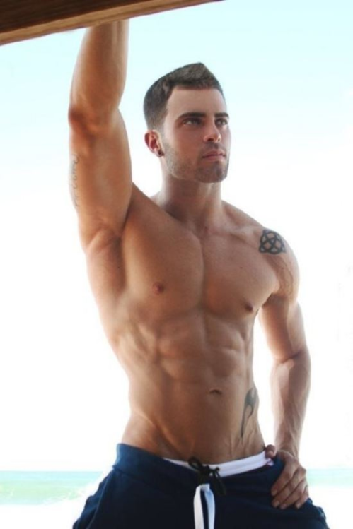 handsome, hunk, shirtless guy