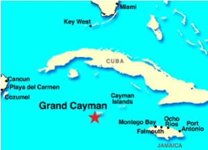 Caribbean, Cuba, Jamaica, map
