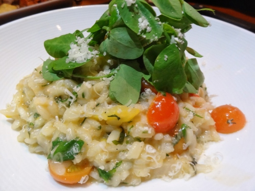 Risotto with their rooftop cherry tomatoes $12