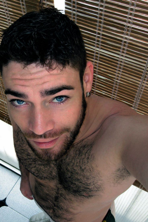 Furry Friday, hairy chest, hunk, handsome, gay