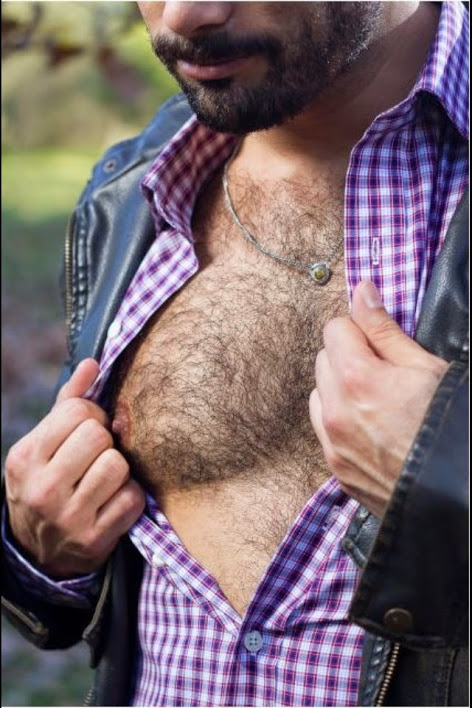 Furry Friday, hairy chest, hunk, handsome