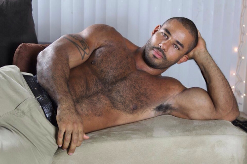 Black man, shirtless, hairy, hunk, gorgeous, handsome