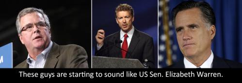 Jeb Bush, Rand Paul, Mitt Romney, politics, Republicans