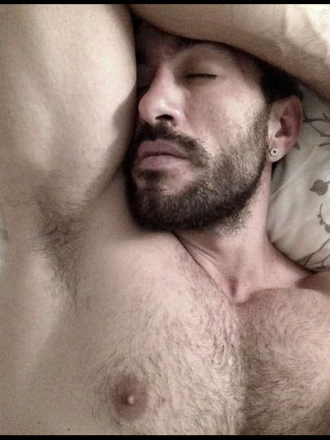 Handsome hunk, hairy chest