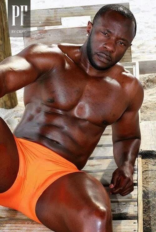 knock knock, black man, handsome, hunk, shirtless