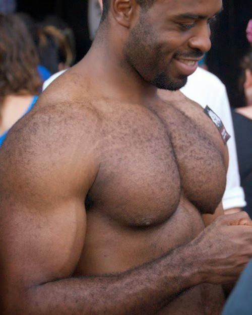 black, handsome, hunk, hairy chest