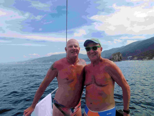 George and Bruce in Puerta Vallata Mexico Feb 2015