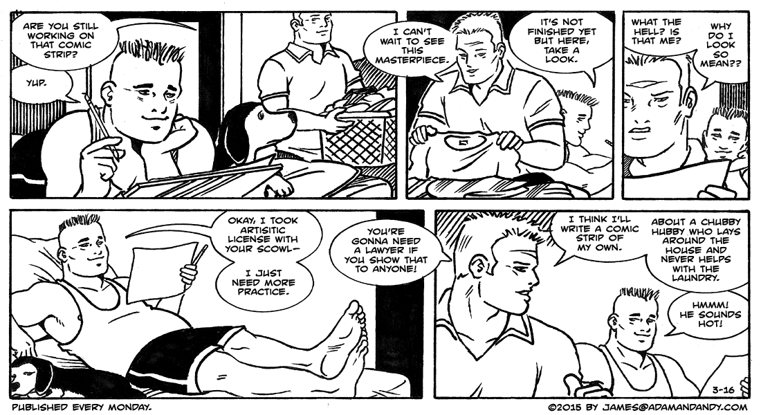 Adam and andy gay comic strip