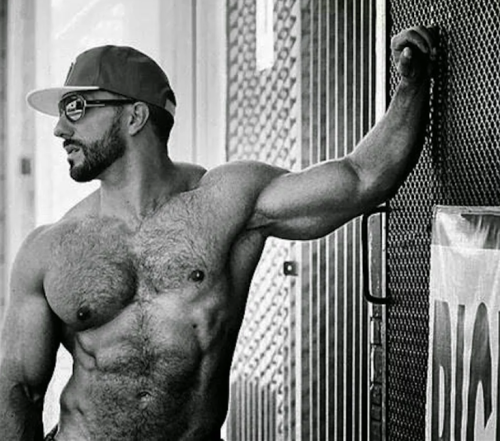 handsome, hunk, shirtless guy, latino, hairy chest