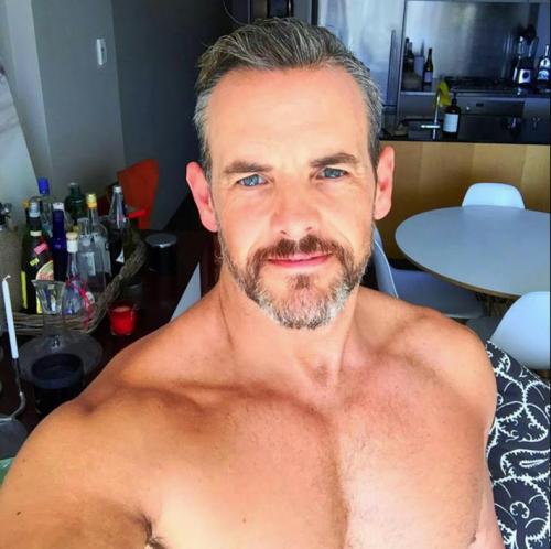gay, handsome, hunk, shirtless