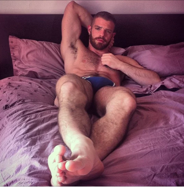 feet, purple, handsome, hunk
