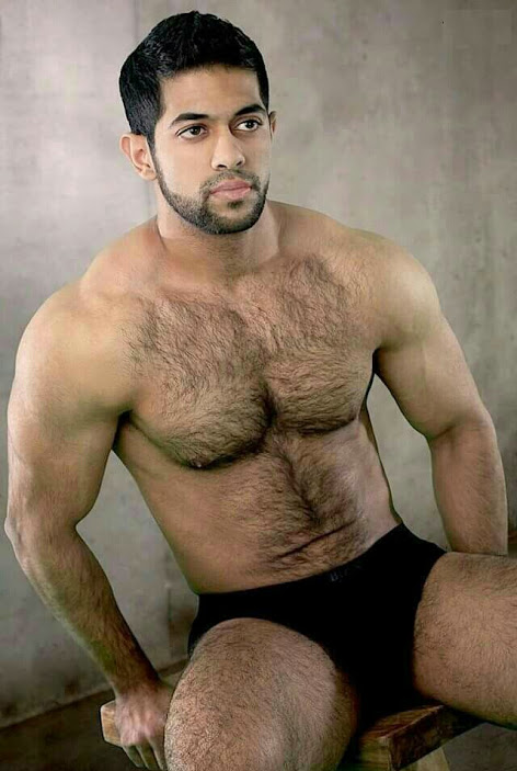 handsome, hunk, shirtless guy, fur, chest