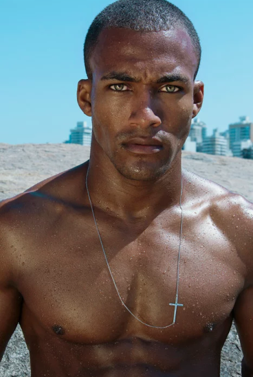 hunk, black, chest, eyes