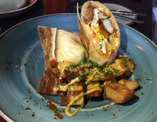 Burrito de Chorizo $12